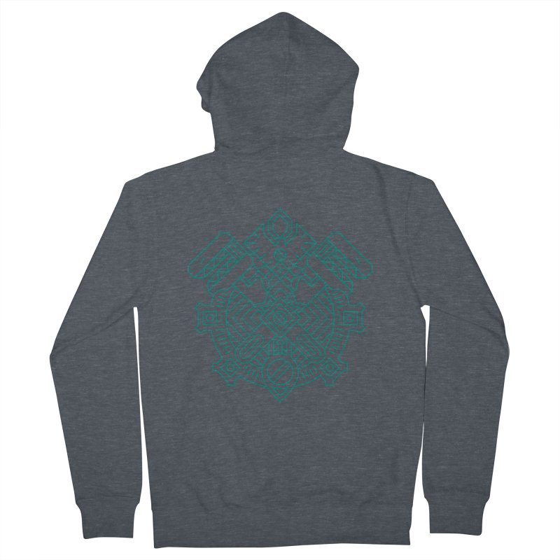 Gnome - World of Warcraft Crest Men's Zip-Up Hoody by dcmjs