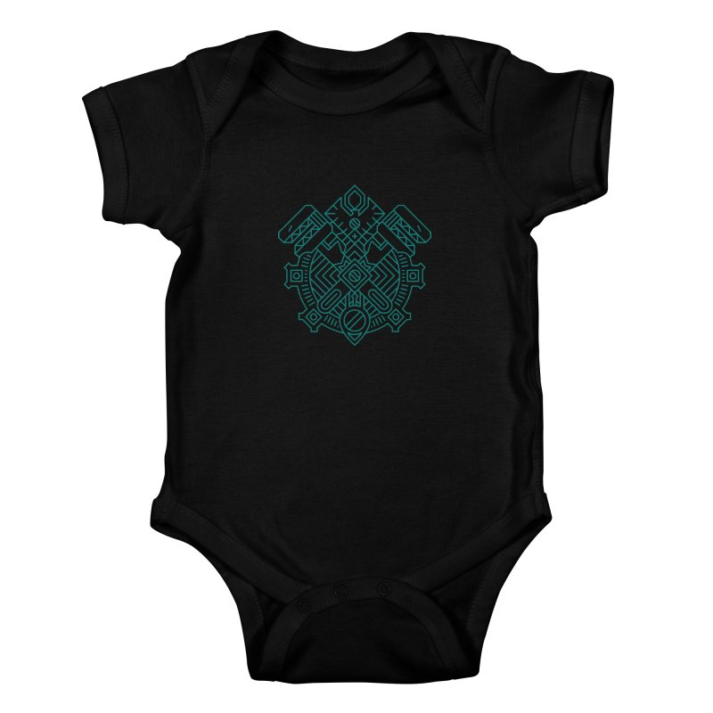 Gnome - World of Warcraft Crest Kids Baby Bodysuit by dcmjs