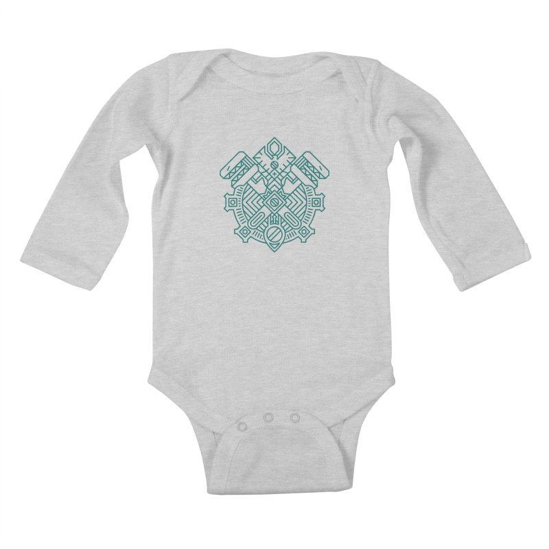 Gnome - World of Warcraft Crest Kids Baby Longsleeve Bodysuit by dcmjs
