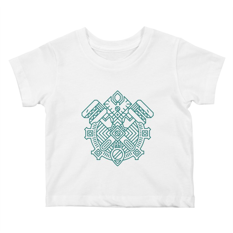 Gnome - World of Warcraft Crest Kids Baby T-Shirt by dcmjs