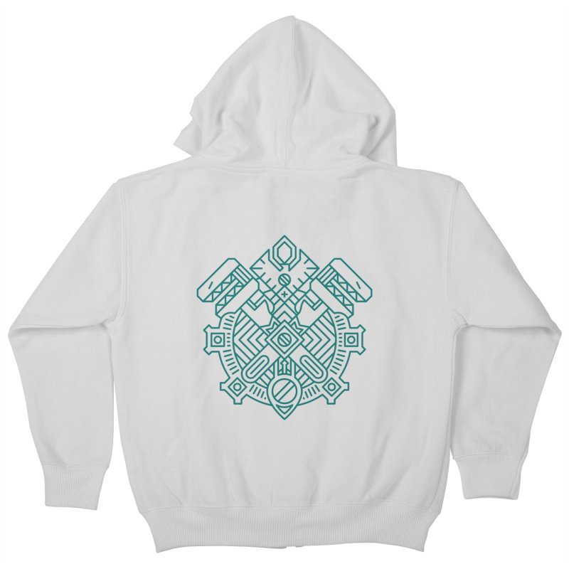 Gnome - World of Warcraft Crest Kids Zip-Up Hoody by dcmjs