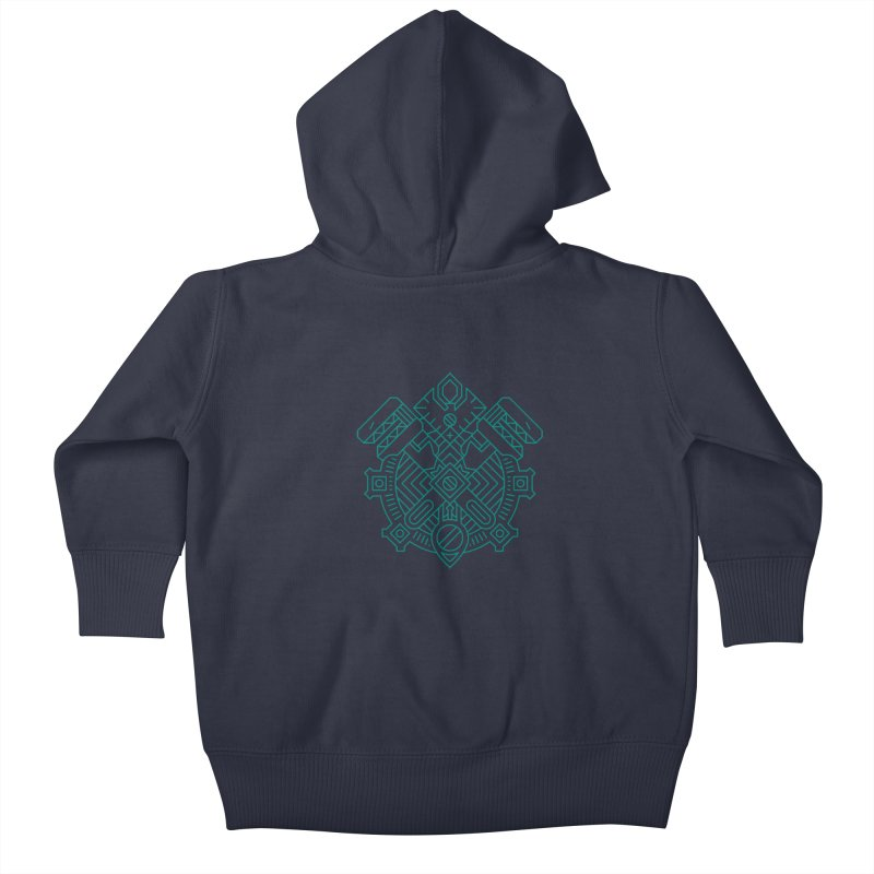 Gnome - World of Warcraft Crest Kids Baby Zip-Up Hoody by dcmjs
