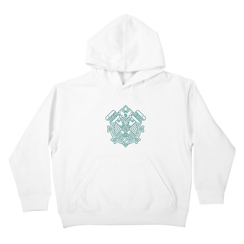 Gnome - World of Warcraft Crest Kids Pullover Hoody by dcmjs