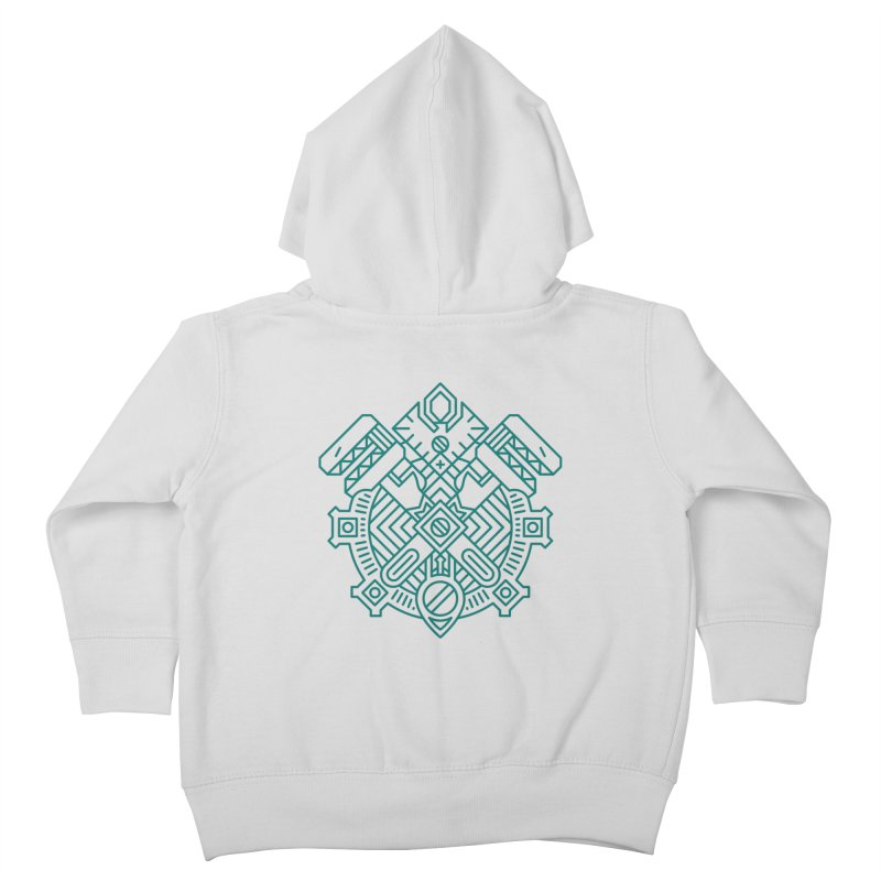 Gnome - World of Warcraft Crest Kids Toddler Zip-Up Hoody by dcmjs