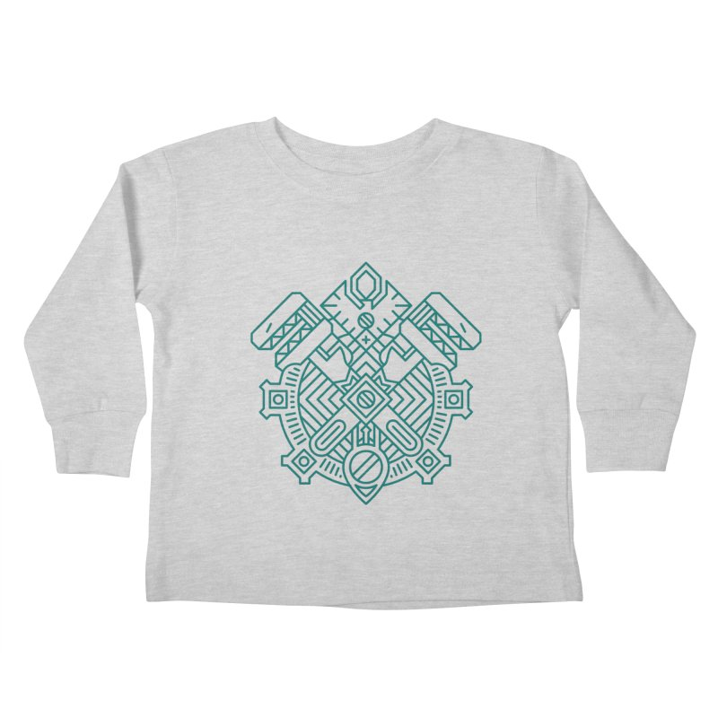 Gnome - World of Warcraft Crest Kids Toddler Longsleeve T-Shirt by dcmjs