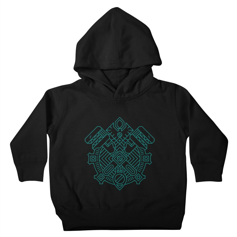 Gnome - World of Warcraft Crest Kids Toddler Pullover Hoody by dcmjs