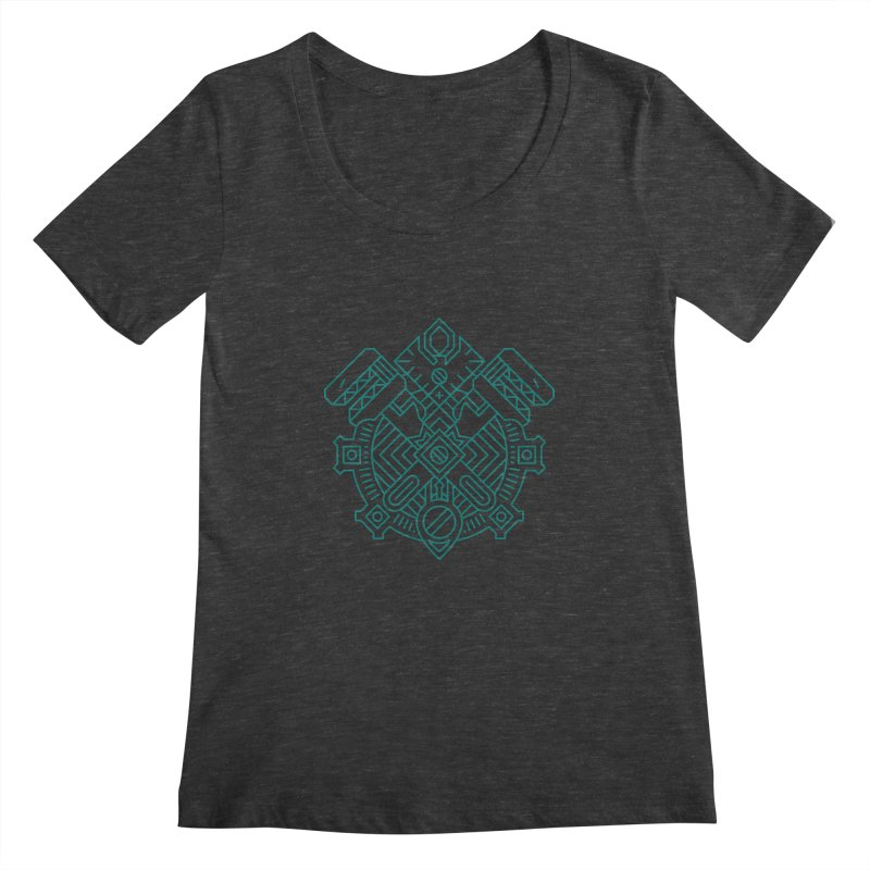 Gnome - World of Warcraft Crest Women's Scoopneck by dcmjs