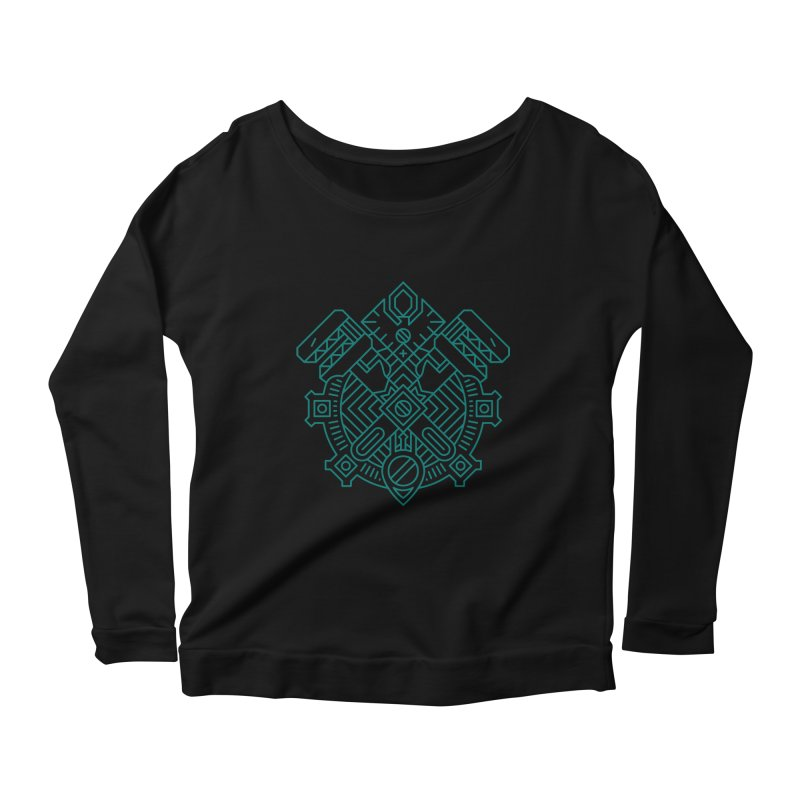 Gnome - World of Warcraft Crest Women's Longsleeve Scoopneck  by dcmjs