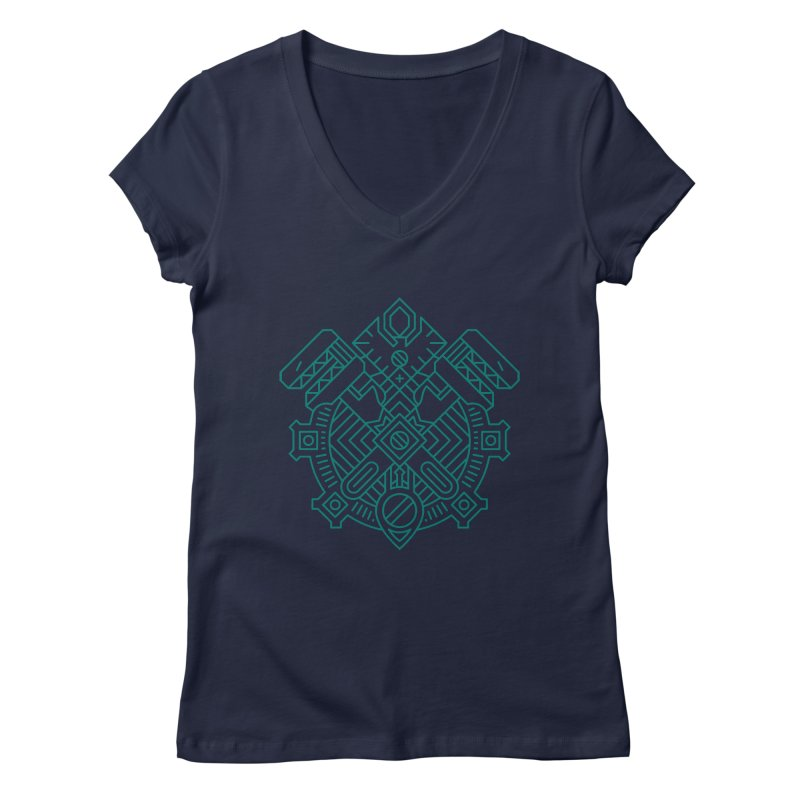 Gnome - World of Warcraft Crest Women's V-Neck by dcmjs