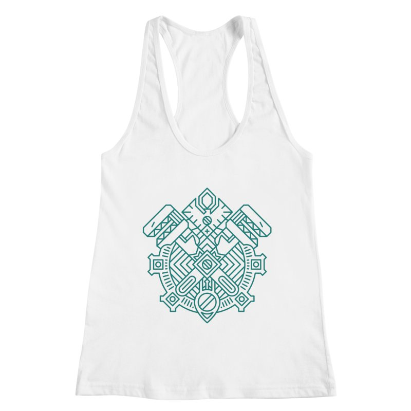 Gnome - World of Warcraft Crest Women's Racerback Tank by dcmjs