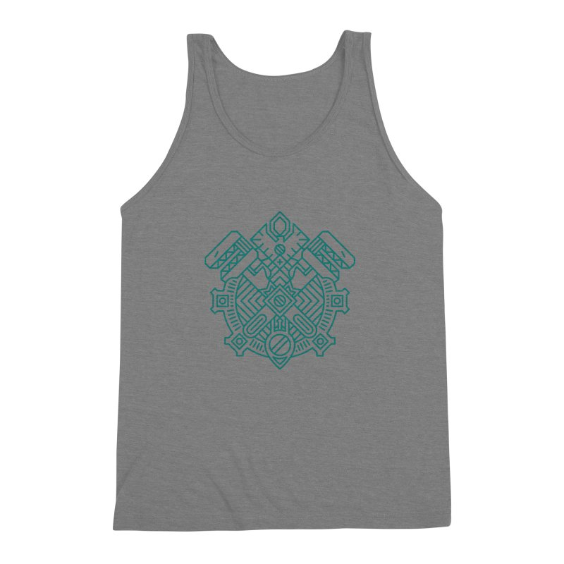 Gnome - World of Warcraft Crest Men's Triblend Tank by dcmjs