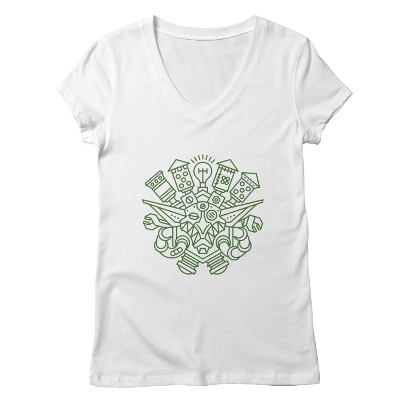 Goblin - World dof Warcraft Crest Women's Regular V-Neck by dcmjs