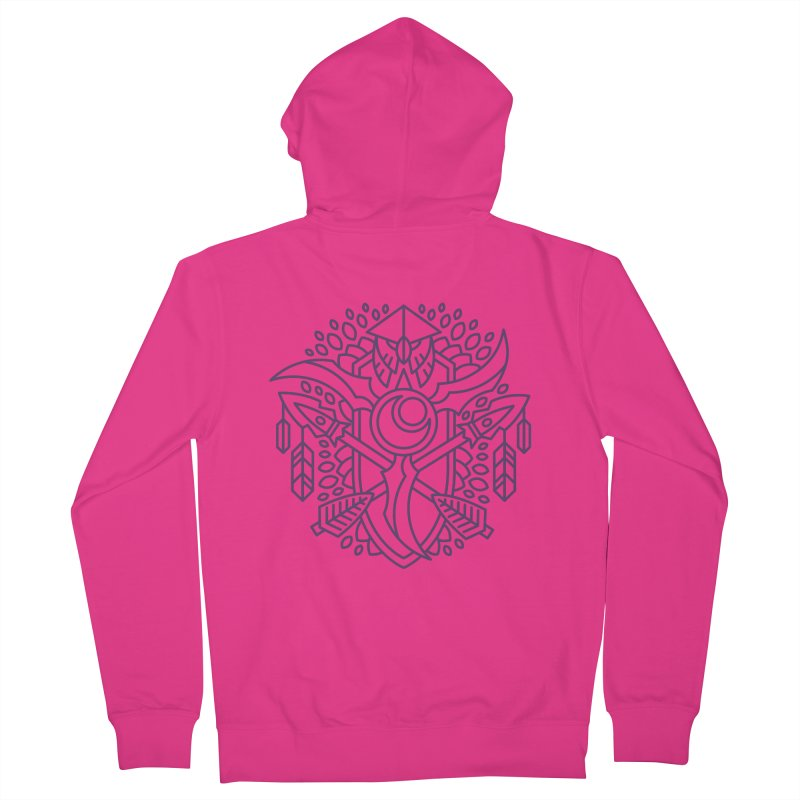 Night Elf - World of Warcraft Crest Men's French Terry Zip-Up Hoody by dcmjs