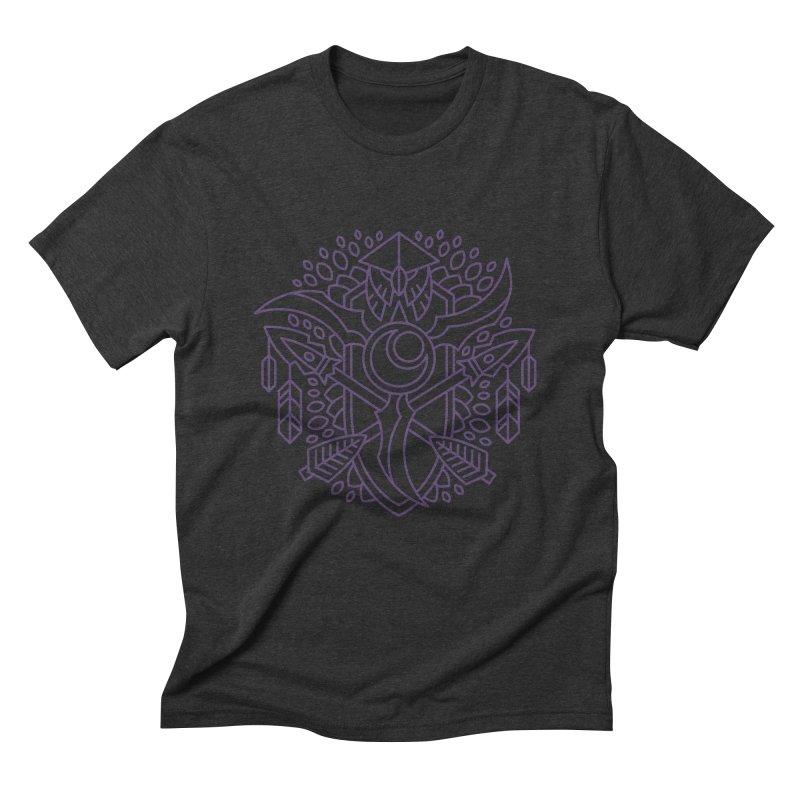 Night Elf - World of Warcraft Crest Men's Triblend T-Shirt by dcmjs