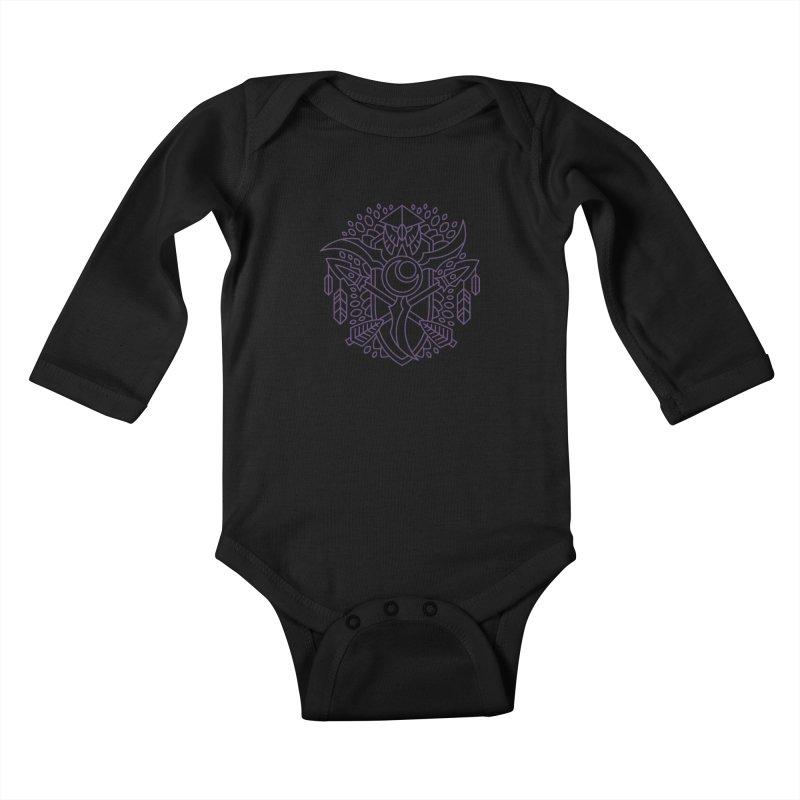 Night Elf - World of Warcraft Crest Kids Baby Longsleeve Bodysuit by dcmjs