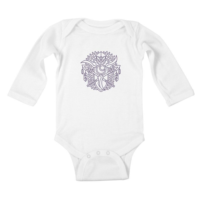 Night Elf - World of Warcraft Crest Kids Baby Longsleeve Bodysuit by dcmjs