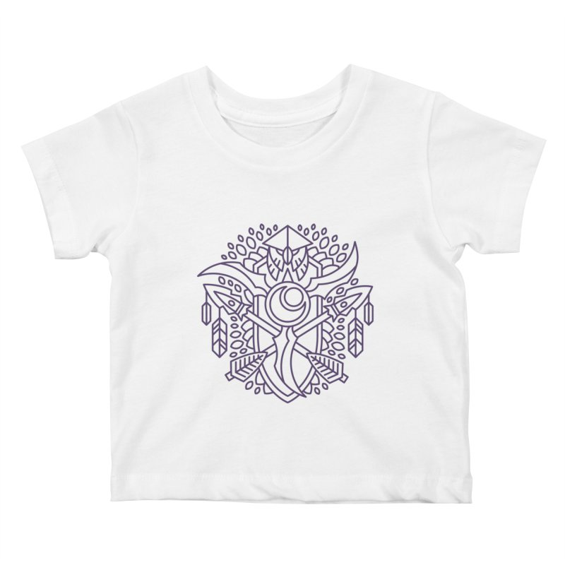 Night Elf - World of Warcraft Crest Kids Baby T-Shirt by dcmjs