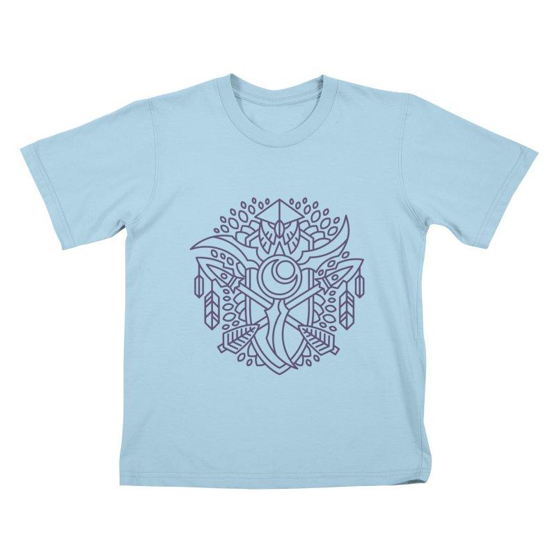 Night Elf - World of Warcraft Crest Kids T-Shirt by dcmjs