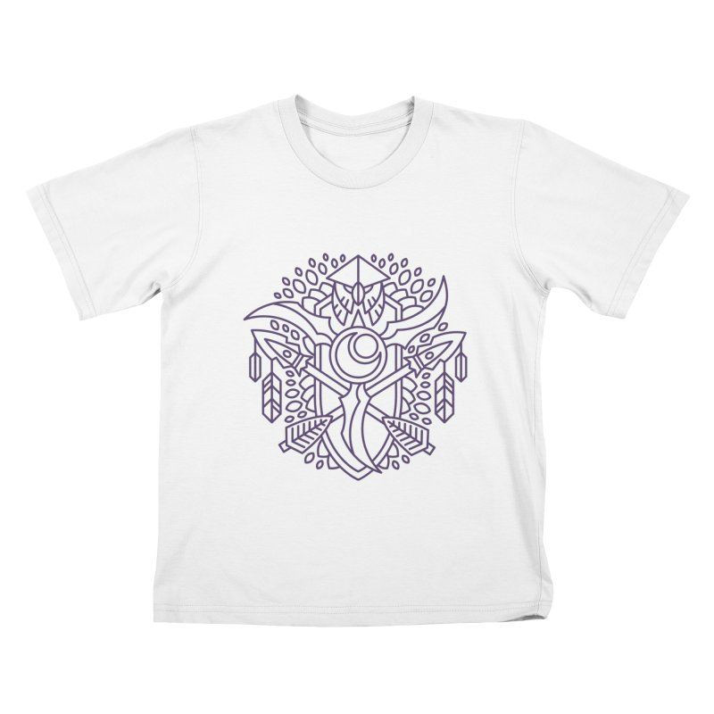 Night Elf - World of Warcraft Crest Kids T-Shirt by dcmjs