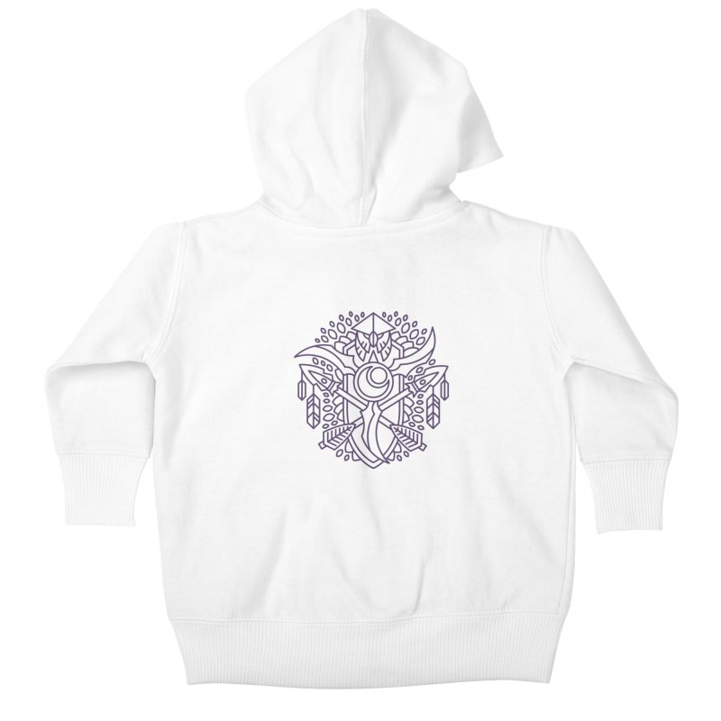 Night Elf - World of Warcraft Crest Kids Baby Zip-Up Hoody by dcmjs