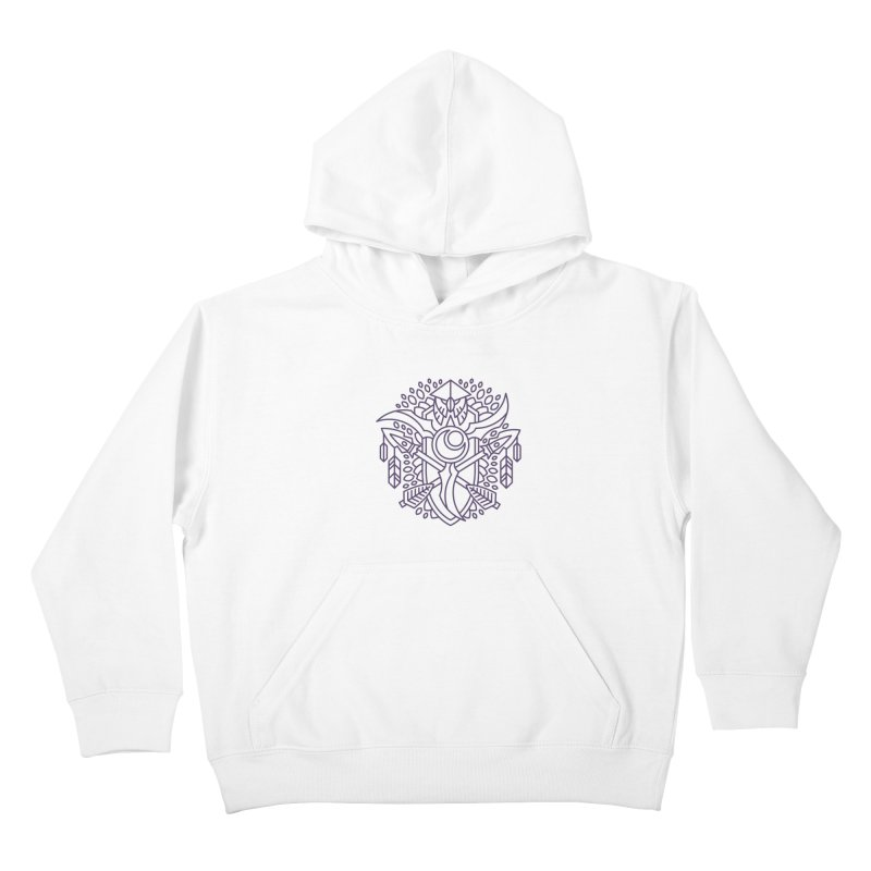 Night Elf - World of Warcraft Crest Kids Pullover Hoody by dcmjs