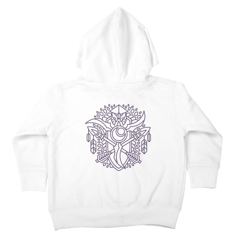 Night Elf - World of Warcraft Crest Kids Toddler Zip-Up Hoody by dcmjs