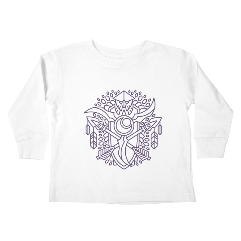 Night Elf - World of Warcraft Crest Kids Toddler Longsleeve T-Shirt by dcmjs