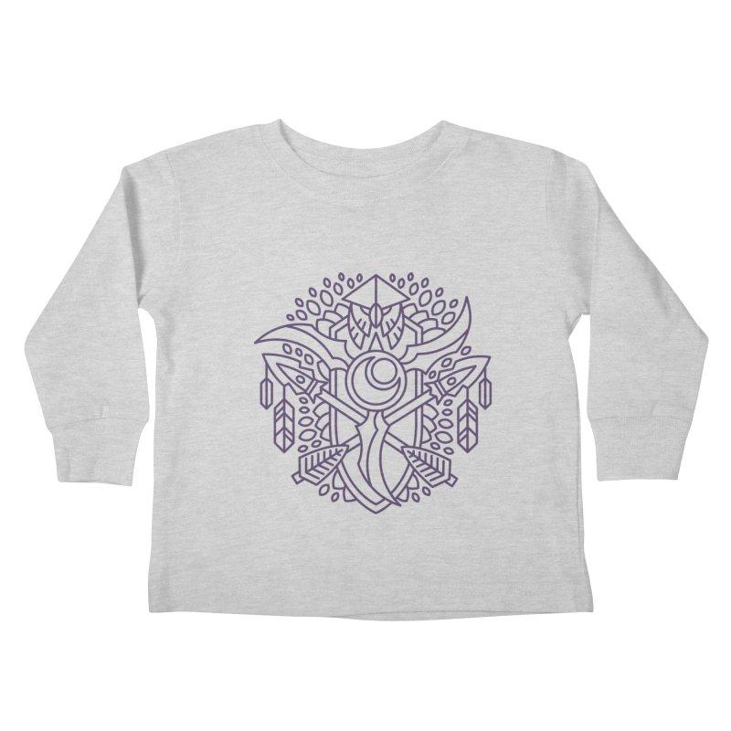 Night Elf - World of Warcraft Crest Kids Toddler Longsleeve T-Shirt by dcmjs