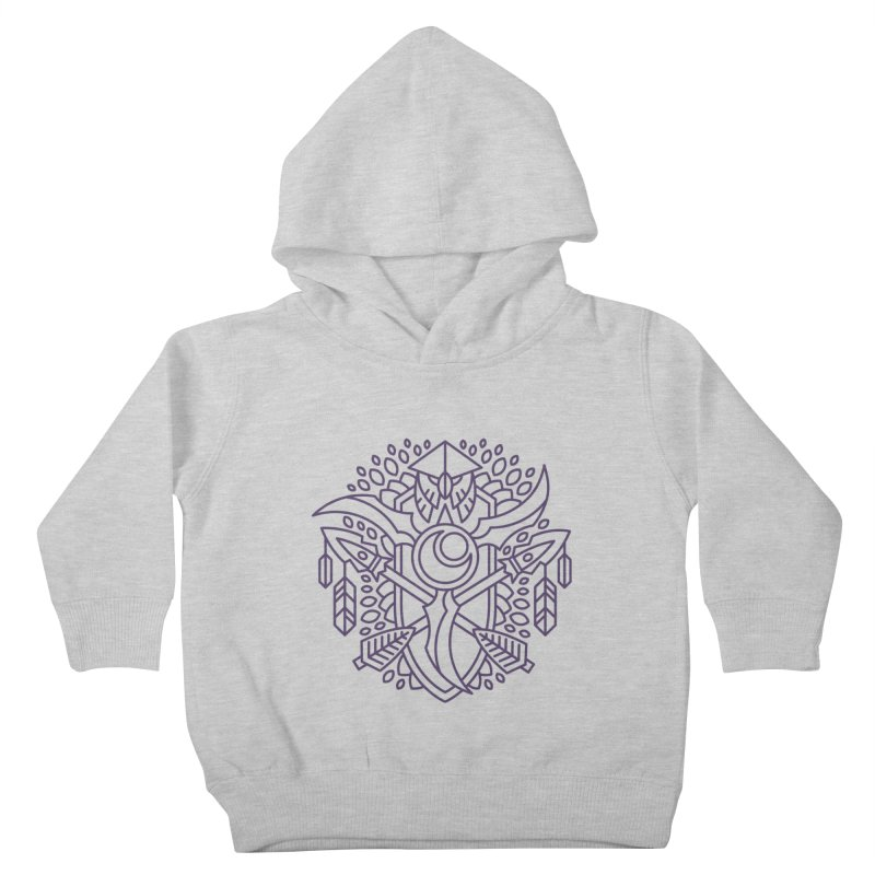 Night Elf - World of Warcraft Crest Kids Toddler Pullover Hoody by dcmjs