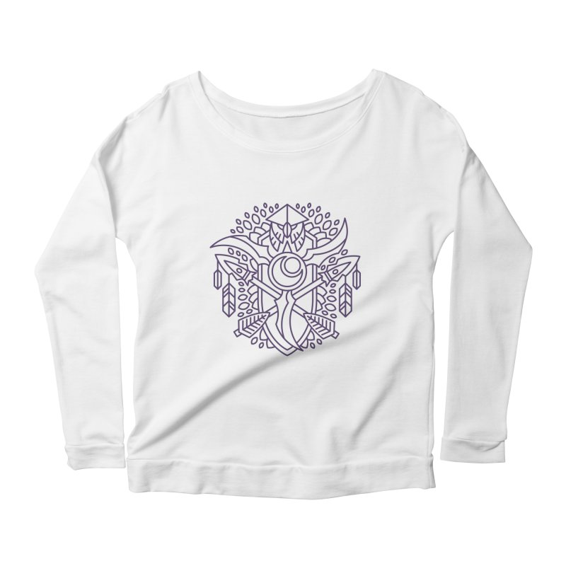 Night Elf - World of Warcraft Crest Women's Scoop Neck Longsleeve T-Shirt by dcmjs