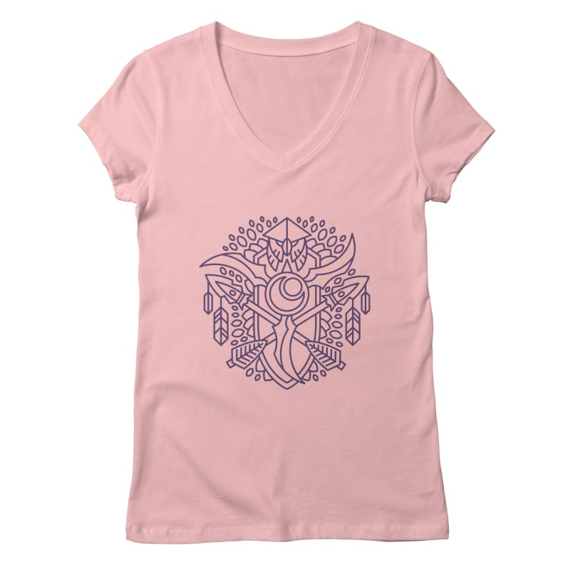 Night Elf - World of Warcraft Crest Women's V-Neck by dcmjs
