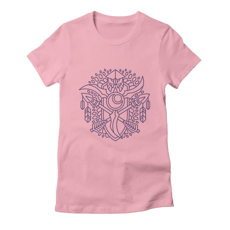 Night Elf - World of Warcraft Crest Women's Fitted T-Shirt by dcmjs