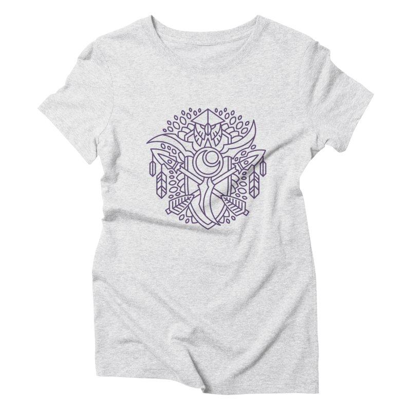 Night Elf - World of Warcraft Crest Women's Triblend T-Shirt by dcmjs