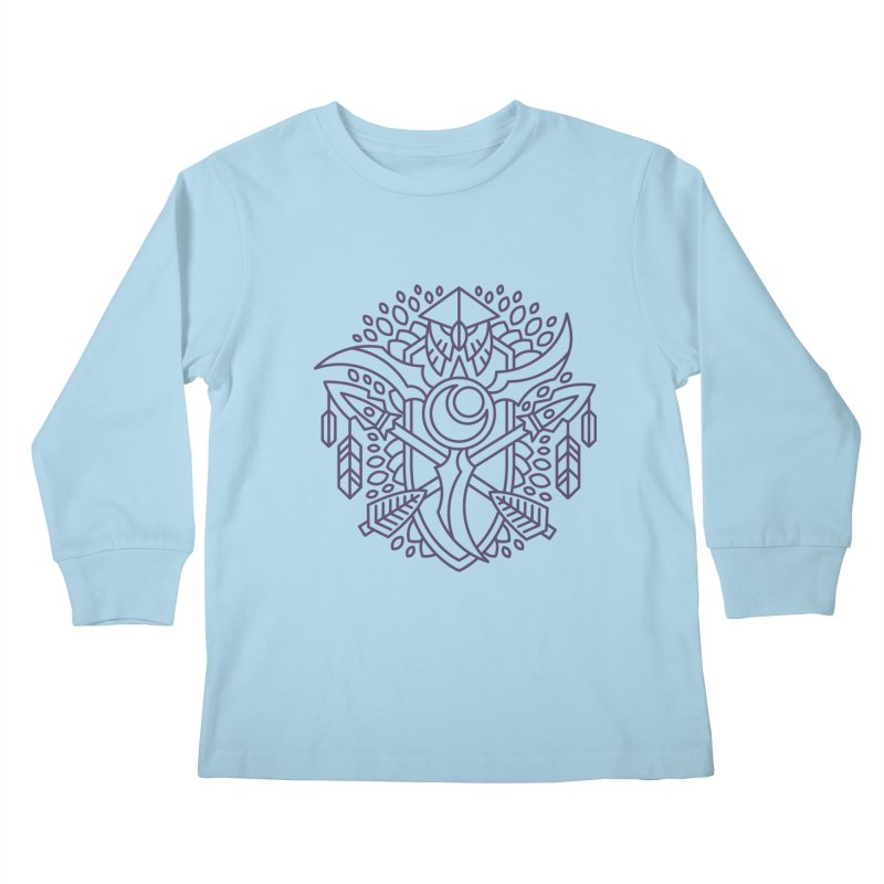 Night Elf - World of Warcraft Crest Kids Longsleeve T-Shirt by dcmjs