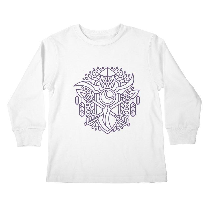 Night Elf - World of Warcraft Crest Kids Longsleeve T-Shirt by dcmjs