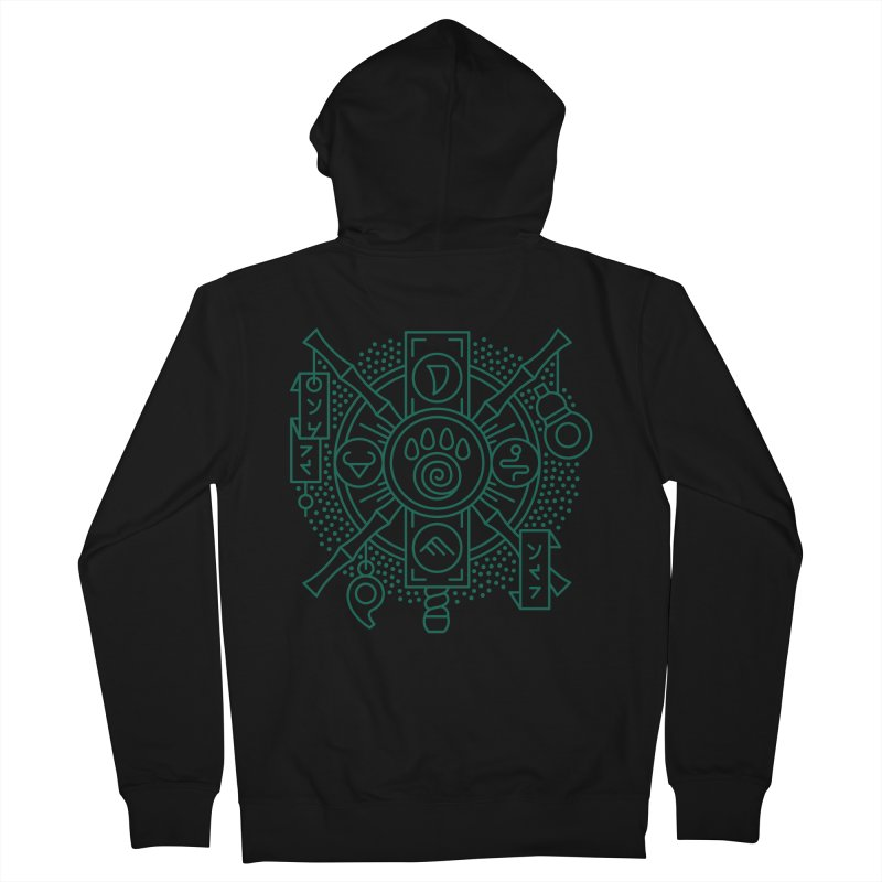 Pandaren - World of Warcraft Crest Men's Zip-Up Hoody by dcmjs