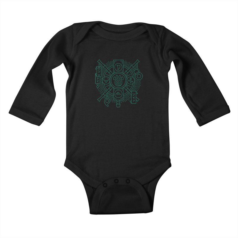 Pandaren - World of Warcraft Crest Kids Baby Longsleeve Bodysuit by dcmjs