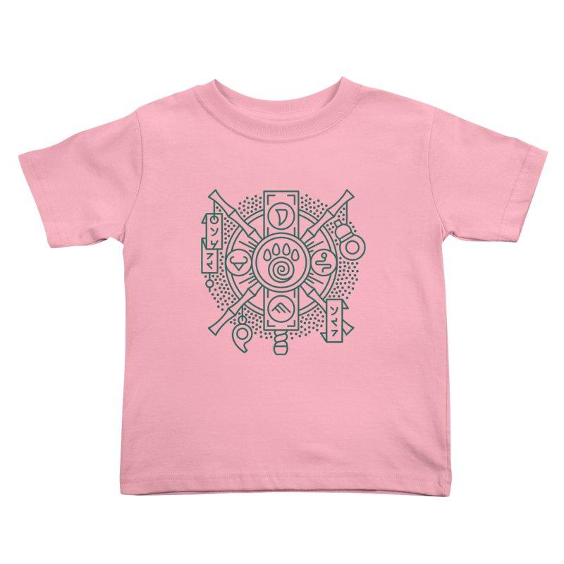 Pandaren - World of Warcraft Crest Kids Toddler T-Shirt by dcmjs