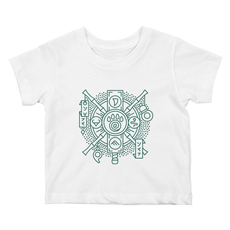 Pandaren - World of Warcraft Crest Kids Baby T-Shirt by dcmjs
