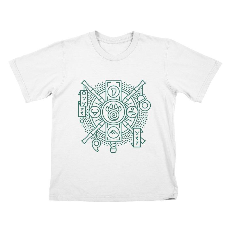 Pandaren - World of Warcraft Crest Kids T-Shirt by dcmjs