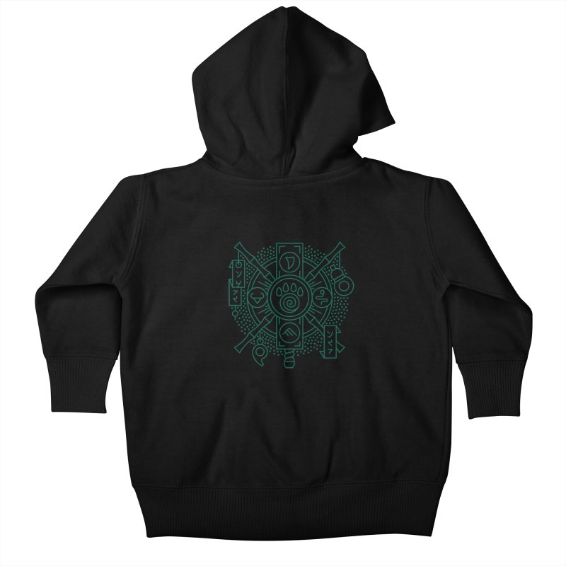 Pandaren - World of Warcraft Crest Kids Baby Zip-Up Hoody by dcmjs