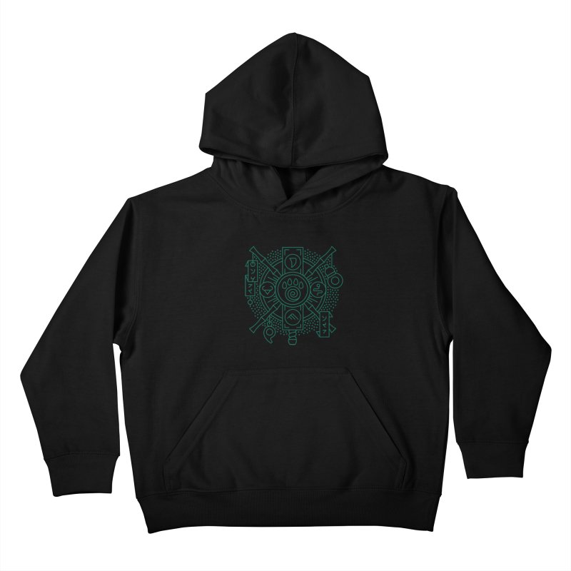 Pandaren - World of Warcraft Crest Kids Pullover Hoody by dcmjs
