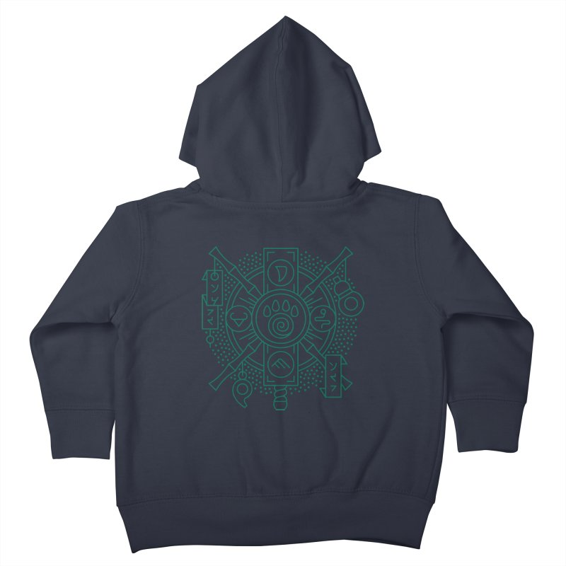 Pandaren - World of Warcraft Crest Kids Toddler Zip-Up Hoody by dcmjs