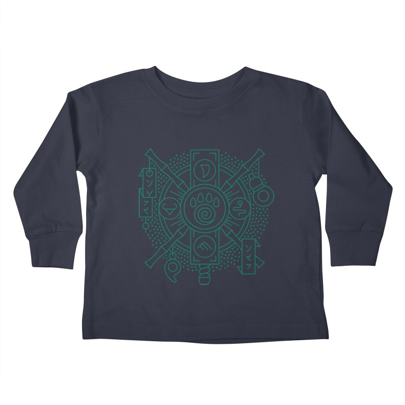 Pandaren - World of Warcraft Crest Kids Toddler Longsleeve T-Shirt by dcmjs