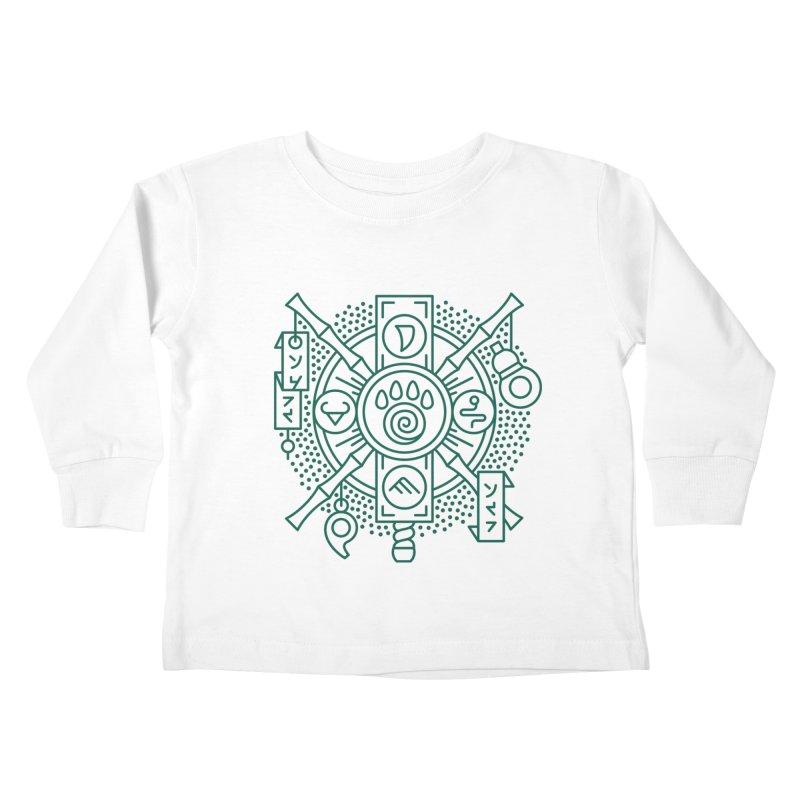 Pandaren - World of Warcraft Crest Kids Toddler Longsleeve T-Shirt by dcmjs