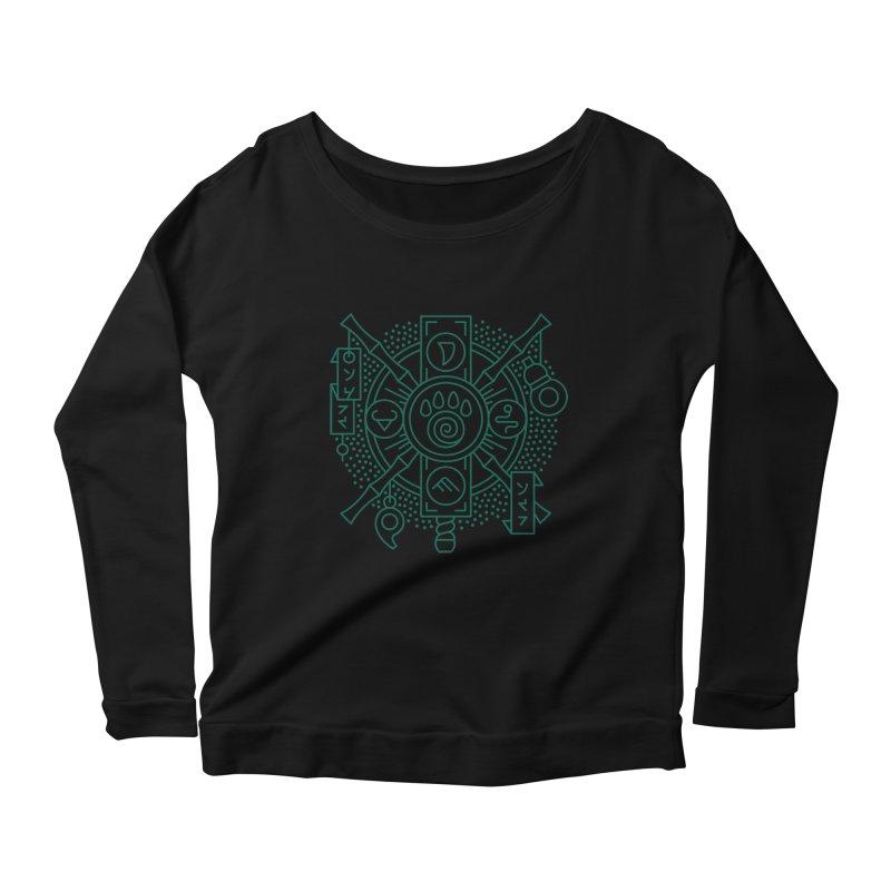 Pandaren - World of Warcraft Crest Women's Scoop Neck Longsleeve T-Shirt by dcmjs