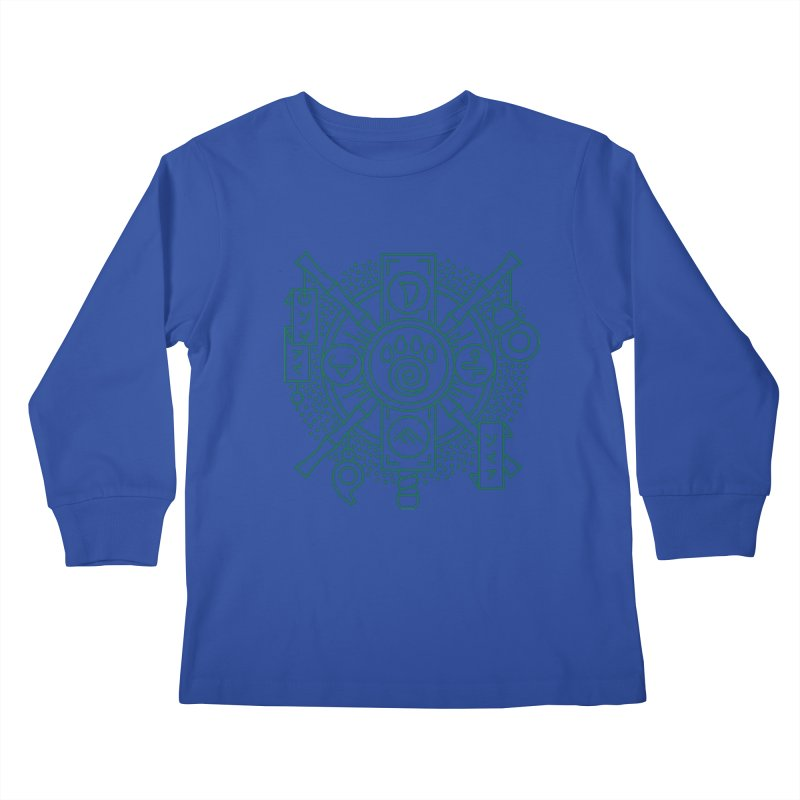 Pandaren - World of Warcraft Crest Kids Longsleeve T-Shirt by dcmjs