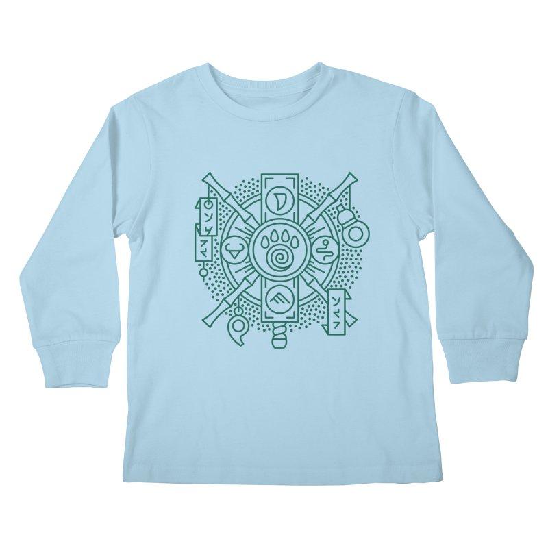Pandaren - World of Warcraft Crest Kids Longsleeve T-Shirt by dcmjs