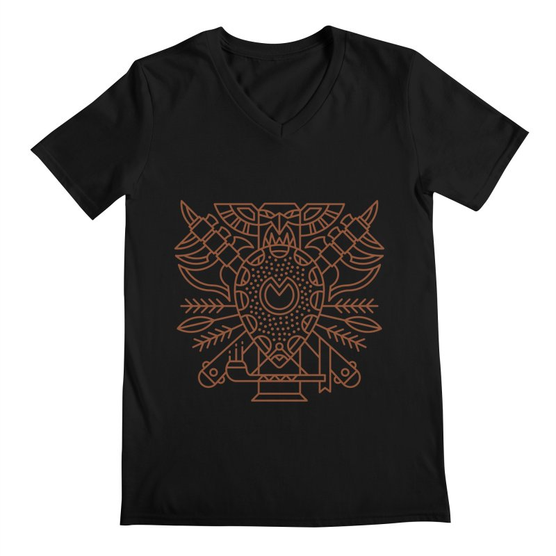 Tauren - World of Warcraft Crest Men's V-Neck by dcmjs