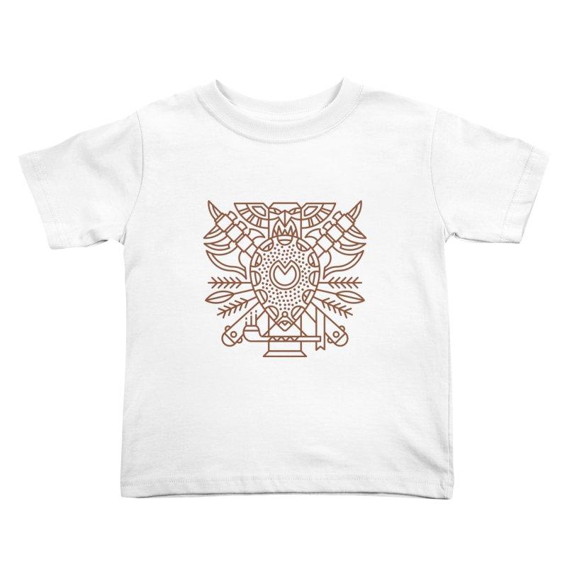 Tauren - World of Warcraft Crest Kids Toddler T-Shirt by dcmjs
